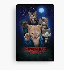 Strange Fur Things Canvas Print