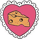 Käse Herz Tattoo von retr0babe