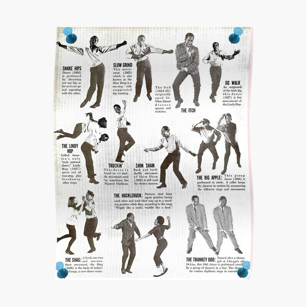 Swing Dance Lehrbildlich Poster