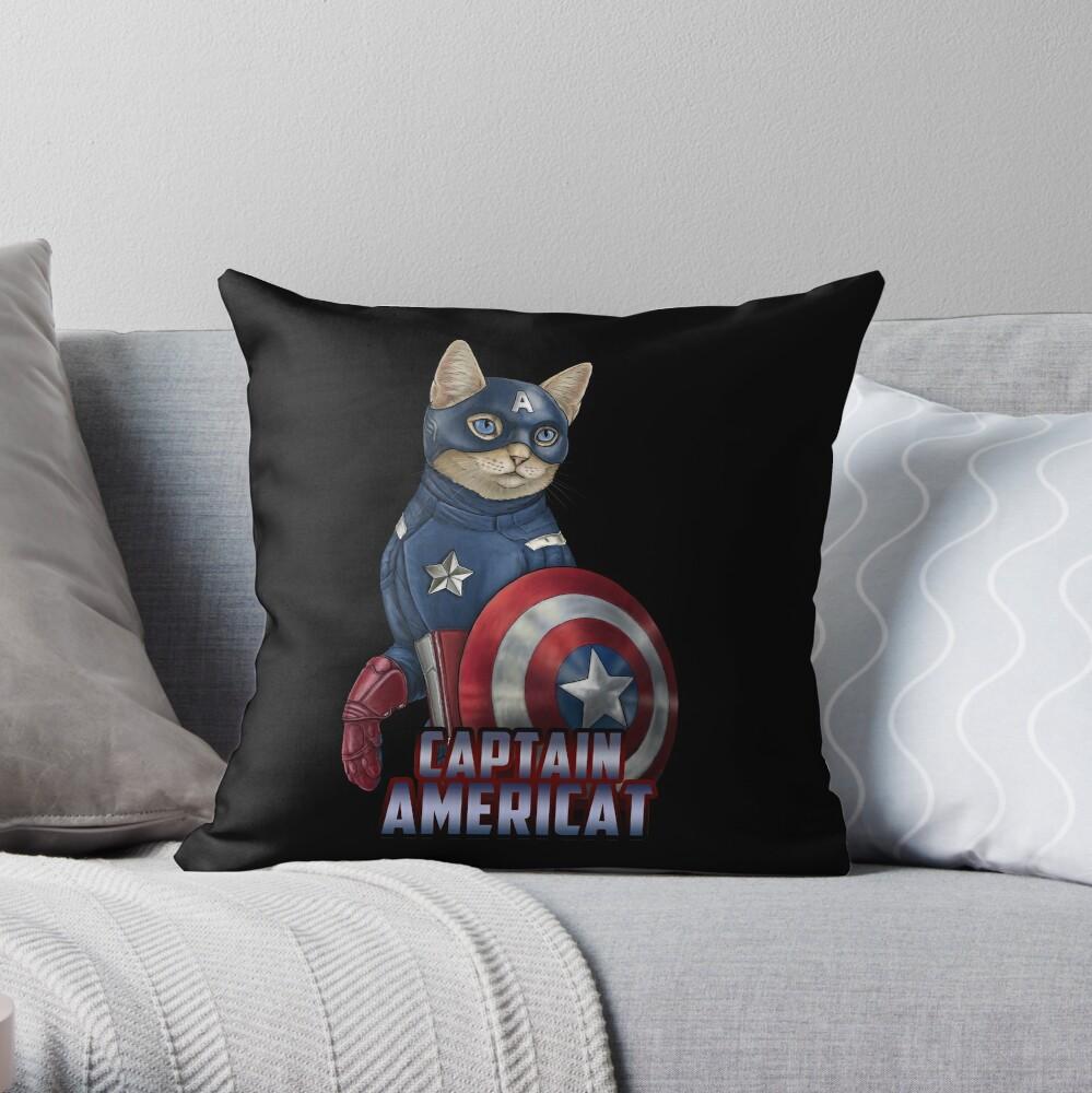 Captain Americat Throw Pillow