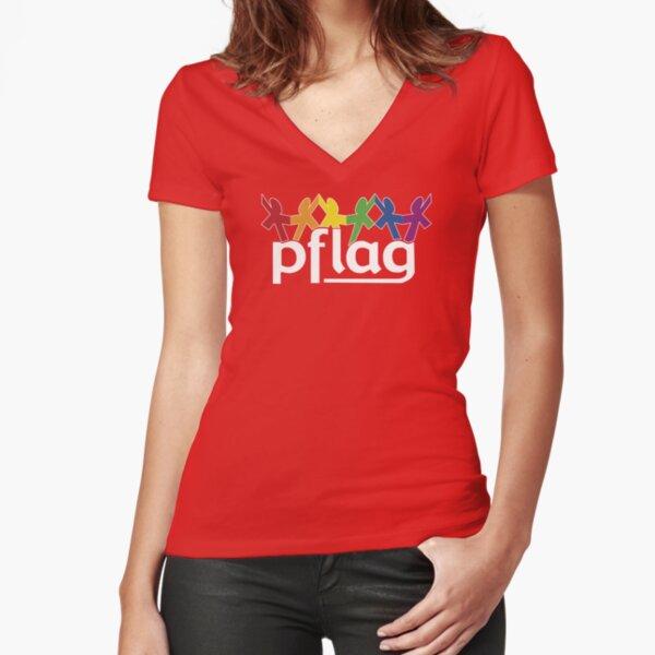 PFLAG Logo Shirt Fitted V-Neck T-Shirt