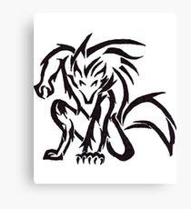 Crouching Werewolf Canvas Print