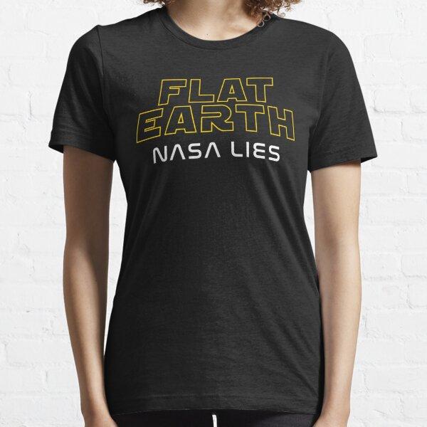 Flat Earth NASA LIES Essential T-Shirt