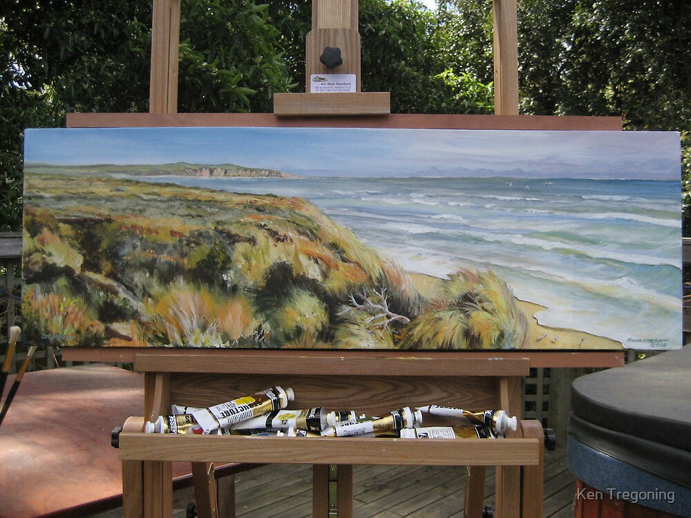 Woolami Coast windswept by Ken Tregoning