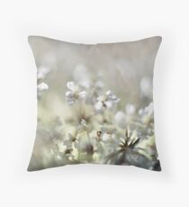 white delicious  Throw Pillow