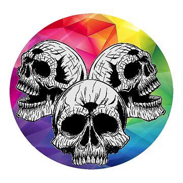 Rainbow Skulls by samcaiazzo