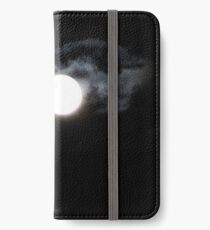 cloudy full moon photo iPhone Wallet/Case/Skin
