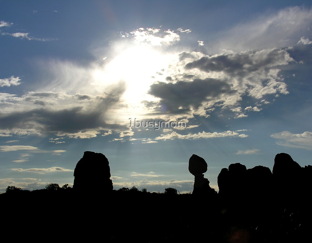 silhouette of balanced rock by 1busymom