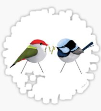 Christmas Finch and Wren Sticker