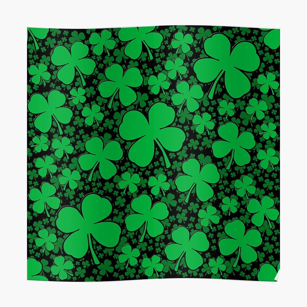 Ein Shamrock-Feld für St Patrick Tag Poster
