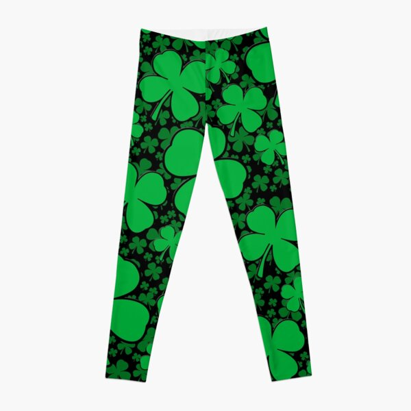 A Shamrock Field for St Patrick's Day Leggings