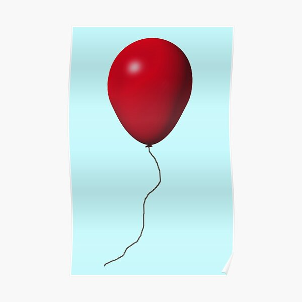 Red IT Balloon Poster