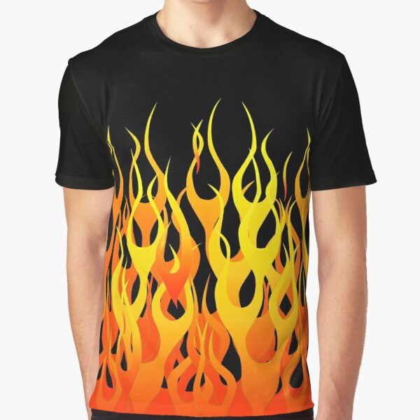 Racing Flames Graphic T-Shirt