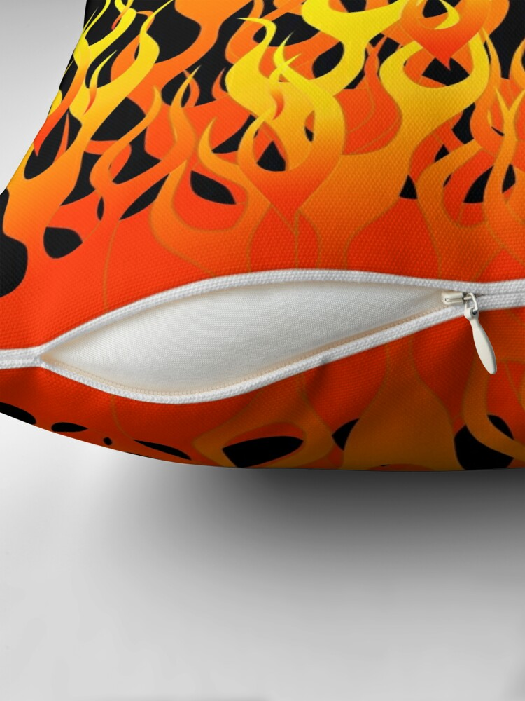 Alternate view of Racing Flames Throw Pillow