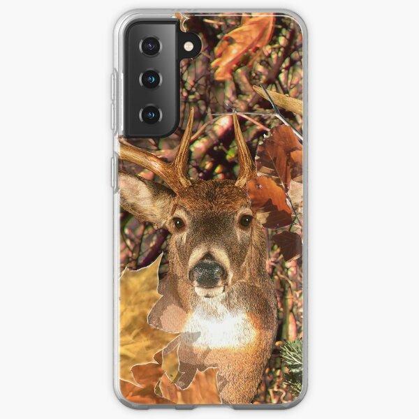 White Tail Buck in Fall Camo Samsung Galaxy Soft Case