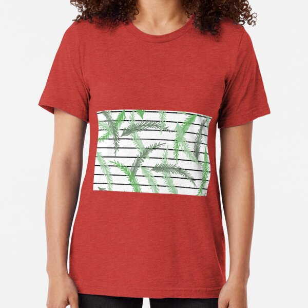 Stripes and Sprigs Tri-blend T-Shirt