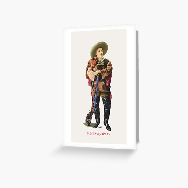 Karl May in Old Shatterhand Costume 1896 by tasmanianartist for Karl May Friends Greeting Card