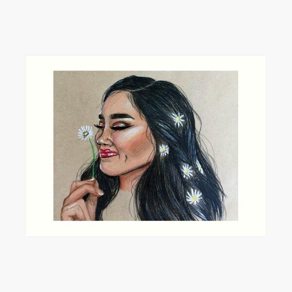 Glow Girl Art Print