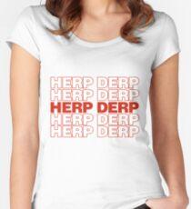 Herp DERP Women's Fitted Scoop T-Shirt