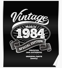 1984 Birthday Gift Vintage Special Edition Poster