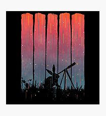 Meteor Shower - Brush Strokes  Photographic Print