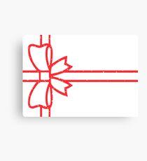 Present Design #4: Bright Red Canvas Print
