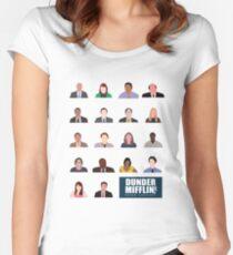 Dunder Mifflin Rolecall! Women's Fitted Scoop T-Shirt