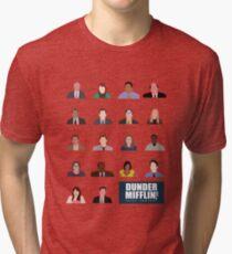 Dunder Mifflin Rolecall! Tri-blend T-Shirt