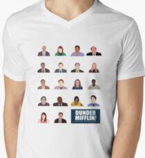 Dunder Mifflin Rolecall! Men's V-Neck T-Shirt