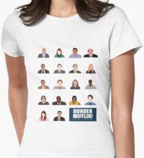 Dunder Mifflin Rolecall! Women's Fitted T-Shirt
