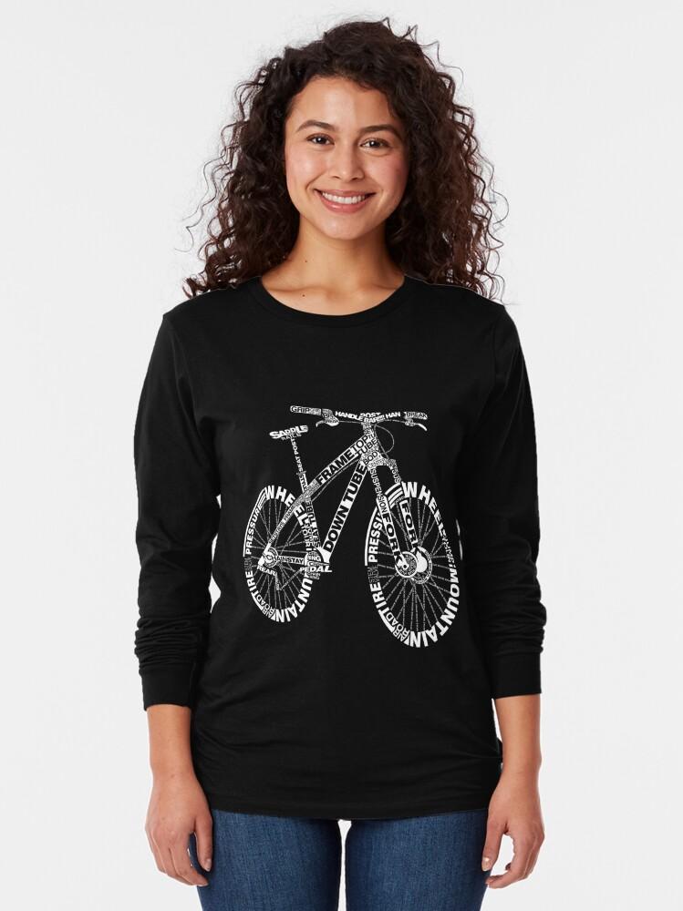 Alternate view of Bicycle Amazing Anatomy Mountain Bike Long Sleeve T-Shirt