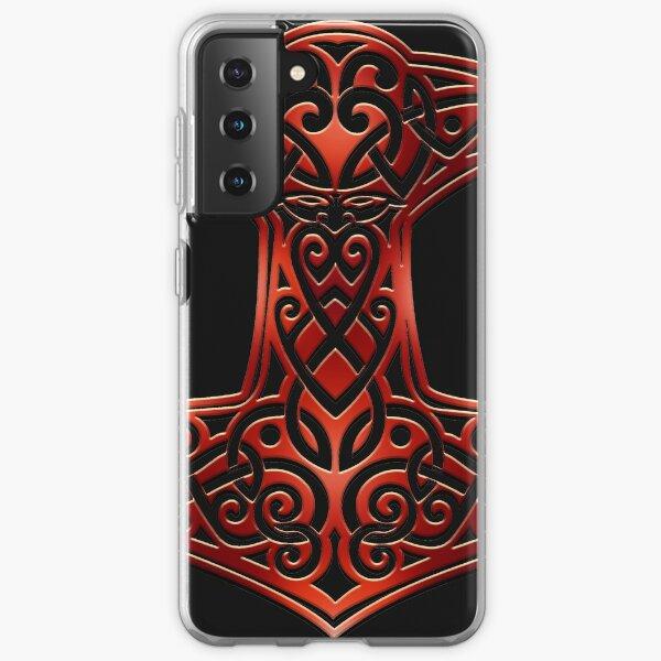 Marteau de Mjölnir Thor - Mythologie Viking Nordic Knotwork Coque souple Samsung Galaxy