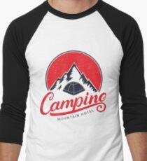 Camping Mountain Men's Baseball ¾ T-Shirt
