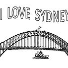 I LOVE SYDNEY (Black writing) by C J Lewis