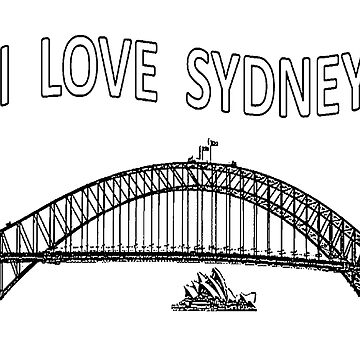 I LOVE SYDNEY (Black writing) by chrisjoy