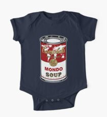 """""""Mondo Red"""" Warhol inspired Campbell's soup.  One Piece - Short Sleeve"""