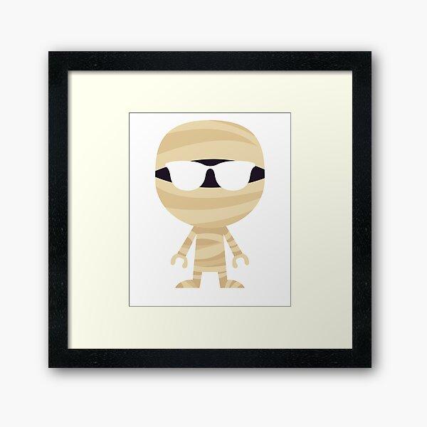 Mummy  Emoji   Framed Art Print