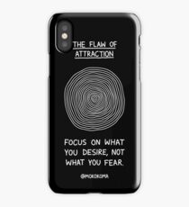 The Flaw of Attraction (White) iPhone Case/Skin