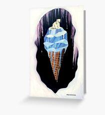 Melting Ice Cream with a Polar Bear on Top  Greeting Card