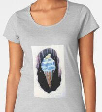 Melting Ice Cream with a Polar Bear on Top  Women's Premium T-Shirt