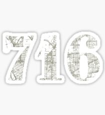 716 Map Sticker