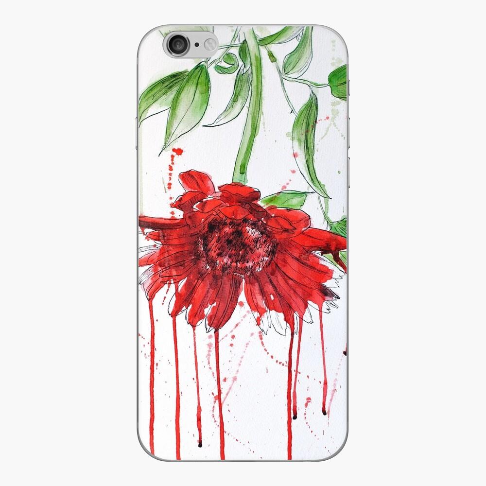 Red Gerbera iPhone Skin
