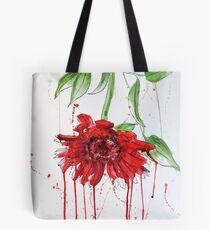Red Gerbera Tote Bag