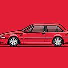 Volvo 480 Turbo (Red) by Tom Mayer