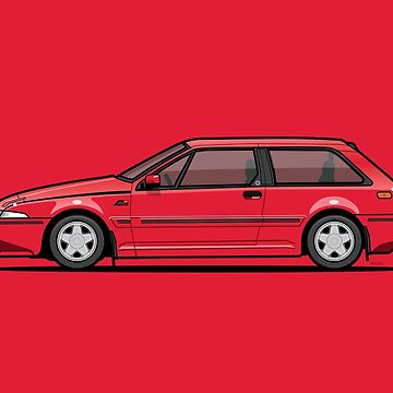 Volvo 480 Turbo (Red) by monkeycom