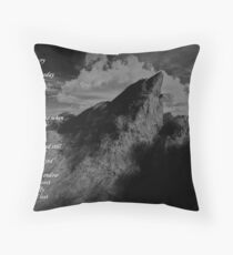 Listen to the Mountain Cry Floor Pillow