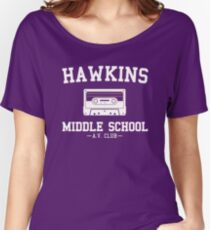 Hawkins Middle School AV Club Women's Relaxed Fit T-Shirt