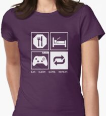 Eat. Sleep. Game. Repeat. Women's Fitted T-Shirt