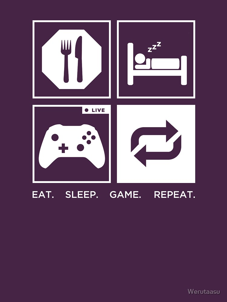 Eat. Sleep. Game. Repeat. | Unisex T-Shirt