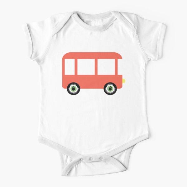 Spell Bear's Bus Short Sleeve Baby One-Piece